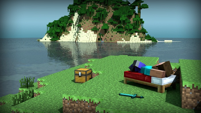 27272_minecraft_chilling_on_the_beach