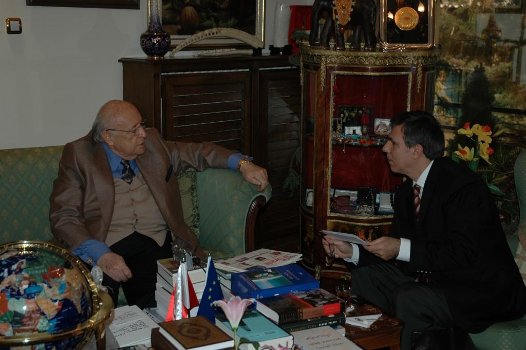 Süleyman Demirel et Hüseyin Latif en mai 2006