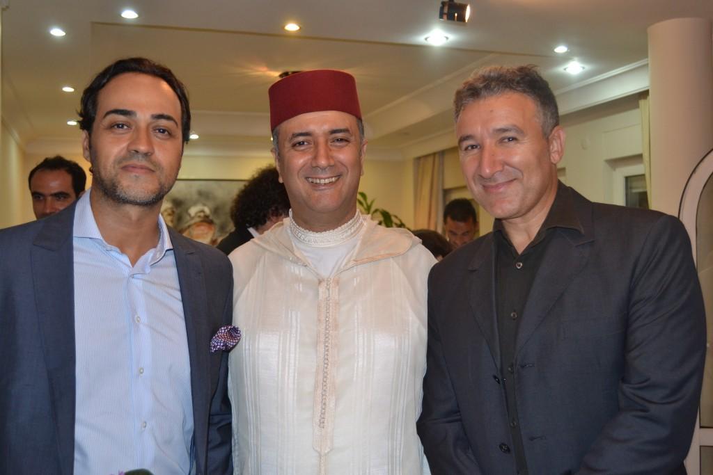 Khalid Sebti, directeur général de BSFT - Mohammed Sbihi, consul général - Boumedienne Boualaoui, directeur général Décathlon Turquie