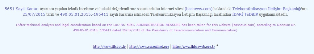 Internet bloqué