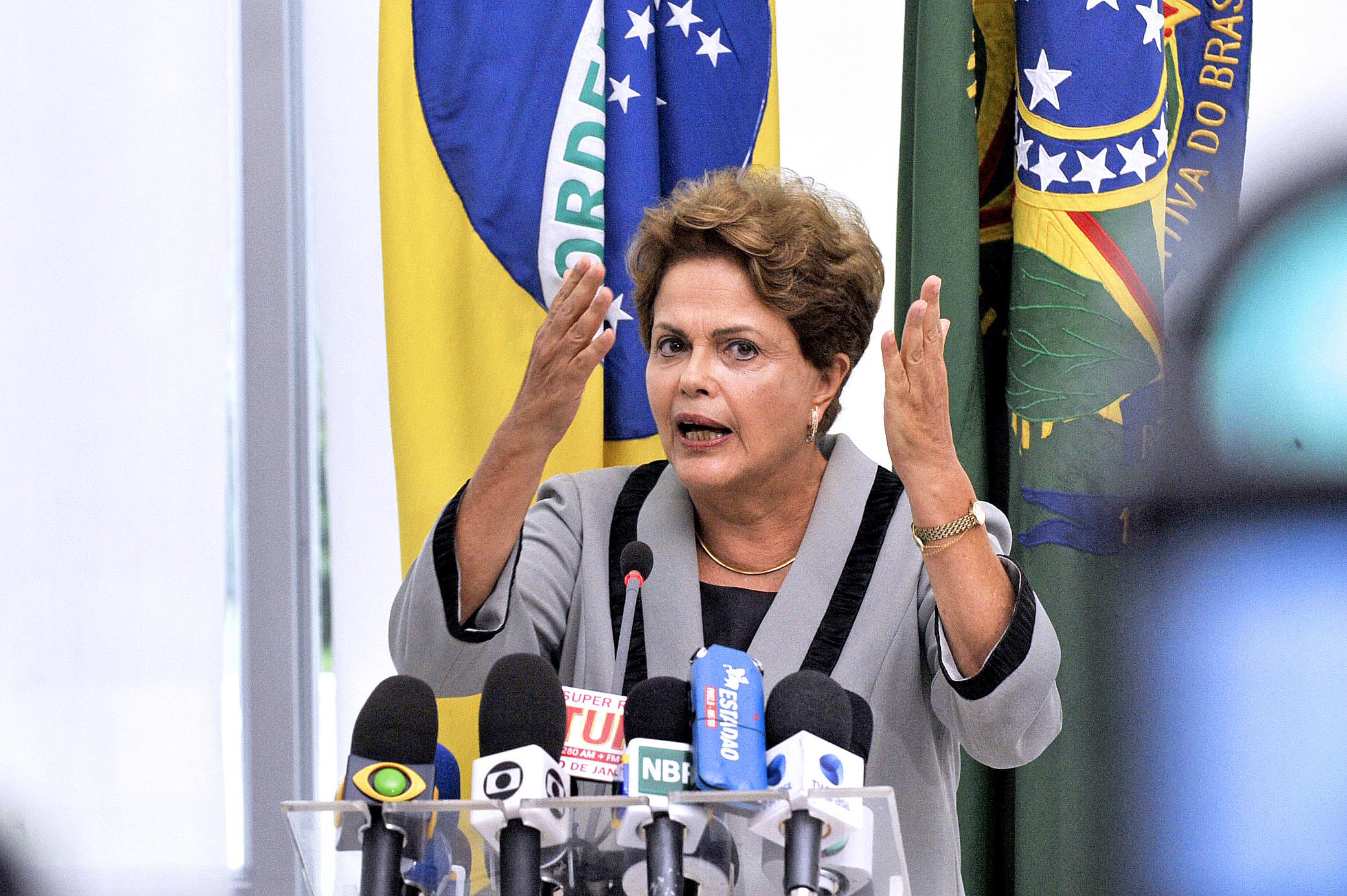 A presidente da República Dilma Rousseff concede entrevista coletiva no Palácio do Planalto. Foto: Jonas Pereira/Agência Senado