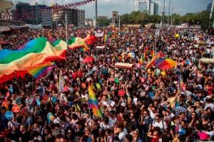 Gay pride à Istanbul, en 2013.