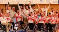 Le 30 juin, l'équipe masculine de basket en fauteuil roulant a remporté pour la première fois le championnat européen de Basket-Fauteuil.
