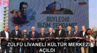 Le centre culturel Zülfü Livaneli a été inauguré le week-end dernier dans le district Çankaya de la province d'Ankara.