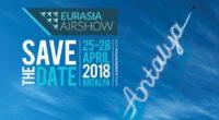 Du 25 au 29 avril, la première édition du spectacle aéronautique, Eurasia Airshow, se tiendra dans le cadre du salon international de l'aéronautique organisé à Antalya.