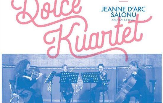 Ne manquez pas le concert de Dolce Kuartet qui aura lieu le 7 mars prochain, à 19h, dans la salle Jeanne d'Arc du lycée Saint-Michel, à Istanbul. Pour réservercliquez ici