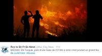 Une base militaire, près d'Izmir en Turquie, a été prise d'un immense incendie.