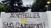 À Montpellier, dans la nuit du 29 au 30 septembre, les activistes de Génération Identitaire ont construit un mur de parpaing sur lequel ils ont inscrit «Montpellier sans clandestins».