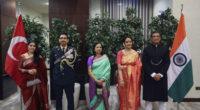 Les festivités se sont tenues au cours d'une réception organisée au sein de l'Ambassade d'Inde, à Ankara, samedi 26 janvier.