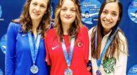 La nageuse paralympique turque a remporté l'or lors de la Série mondiale de paranatation (World Series).